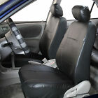 Pair Bucket PU Leather Seat Covers for Detachable Headrest Airbag Compatible cheap