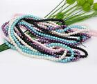 140 GLASS FAUX PEARL ROUND BEADS 6mm  VARIOUS COLOURS