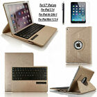 iPAD Air 2/1 4 3 iPad Pro MINI 360 Leather Case Cover Stand+Bluetooth Keyboard