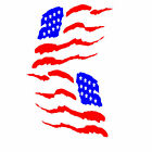 Two American Flag vinyl car truck window decal, Made in the USA