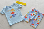 GYMBOREE Girl's Gymmies Light Blue Mermaid Short Pajamas Size 6-12 Months