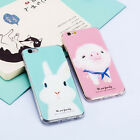 1Pc Cartoon Animals Pig Rabbit Soft Silicone Phone Case for iPhone 5 5s SE 6 6s