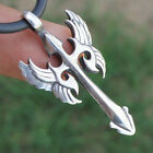 Gothic Winged Cross Angel Archangel Bird wing Sword Dagger Knife pewter pendant