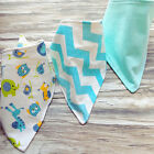 3Pcs Baby Boy Girls Saliva Towel Bandana Bibs Dribble Triangle Kids Head Scarf