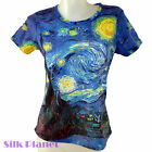 VINCENT VAN GOGH Starry Night Moon TOP TEE T SHIRT FINE ART PRINT FASHION MODERN
