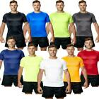 Mens T Shirt Top Exercise Sports Gym Running Active Performance Clothes