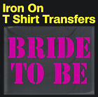 iron-on t-shirt transfer for bride mother of the bride bridesmaid bride to be