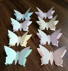 20 3d LARGE 5CM BUTTERFLY TABLE CONFETTI CARD TOPPER PASTEL AND VELLUM DECORATIO