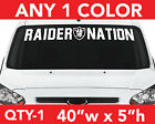 """OAKLAND RAIDERS """" RAIDER NATION """" WINDSHIELD DECAL STICKER 40""""x 5"""" ANY 1 COLOR $12.99 USD on eBay"""