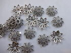 50 / 100/ 200 Pretty Tibetan Antique Silver Bead caps in 8 Leaf  Filigree style