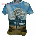SALVADOR DALI Ship Man El barco SURREALISM FINE ART PRINT MENs T SHIRT TEE *