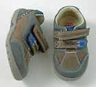 New Clarks Boys First Walking Shoes Blue Leather Velcro Fastening Various Sizes