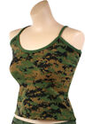 Womens Camouflage Military Slim Fit Casual Lounging Tank Top