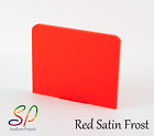 FROSTED PERSPEX (Chilli Red S2 4T50) 3MM PERSPEX ACRYLIC PLASTIC SHEETS