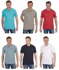 Mens Plain Cotton Pique Polo Shirt with Pocket ~ Small to 5XL