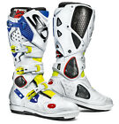 SIDI CROSSFIRE 2 SRS BOOTS YELLOW FLUO WHITE BLUE OFF ROAD MOTOCROSS ENDURO MX