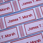 40 Personalised Large Woven Name Labels Tapes Back To School