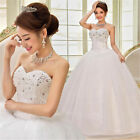 White Luxury Ball gown Crystal Organza Wedding Dress Bridal Gowns Formal Dresses