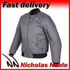 SPADA AIR FORCE ONE Platinum Grey CE ARMOURED WATERPROOF BOMBER STYLE JACKET