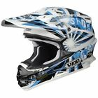 Shoei VFX-W DISSENT MX Motorcycle Helmet white blue TC2