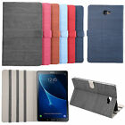 Luxury Wood Grain PU Leather Case Stand Cover For Samsung Galaxy Tab A T580 10.1