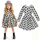 Little Baby Girls Toddler Princess Pageant Party Long-sleeve Dress 2T-6T BC0039