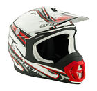 Spada Violator MX Off Road motorcycle Helmet Hawk white red