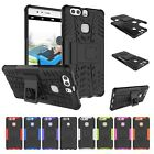 Shockproof Rubber PC+TPU Stand Hybrid Back Cover Case For Huawei P9plus Mate8 5C