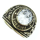 Sheriff Department Clear Stone Gold EP 316SS Mens Ring