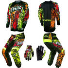 O'Neal Element Vandal Neon Motocross MX Dirtbike Gear Jersey Pants Gloves Combo