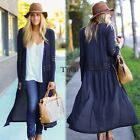 Outerwear Cardigan Coat Long Women Rivet Casual Batwing Personality Flare TXWD