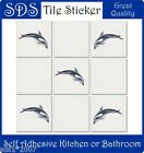 "6"" - 4"" TILE STICKERS 5 X HD FULL COLOUR PRINT SEA OCEAN CREATURES dolphins"