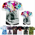 Summer Women Men Tee Shirt Short Sleeve 3D Print Round Top Funny T-Shirts New
