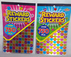 750 Cute REWARD STICKERS Teacher Club School Achievement  Book Marks Markers