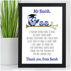 Best Teacher Gifts - Thank You Gift for Teachers - Teacher Owl Poem Presents