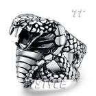 High Quality TTstyle 316L Stainless Steel King Cobra Ring Choose Size
