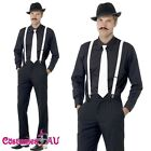 20s Gangster Instant Kit 1920s Mens Costume Hat Tie Spats Braces Moustache 20's