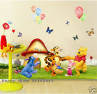 Winnie the Pooh & Party Balloons Decal Wall Sticker Nursery Kids Room Decoration