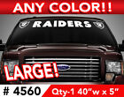 """OAKLAND RAIDERS WINDSHIELD DECAL STICKER 40""""x 5"""" ANY 1 COLOR $13.99 USD on eBay"""