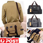New Men's Tote Crossbody Travel Shoulder Luggage Vintage Canvas Bags For Laptop