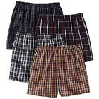 4 pack of MENS COTTON LOOSE-FIT Checkered Plaid BOXER SHORTS sizes S-XXL Size S