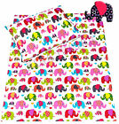 Baby toddler cot/ cot bed set duvet cover+pillowcase elephants patchwork cotton