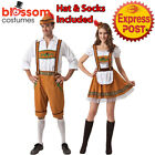 K175 Oktoberfest Couple Leiderhosen German Beer Bavarian Mens Womens Costume