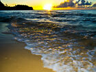 HAENA BEACH SUNSET OCEAN KAUAI NORTH SHORE HAWAII RARE CANVAS PHOTO GICLEE PRINT