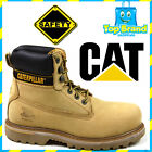 WORK SHOES SAFETY CAT CATERPILLAR HOLTON SUEDE BOOTS LACE UP BOOT NEW BANANA