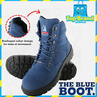 Steel Blue Southern Cross Boots Blue Suede Safety Toe 322360 New Mens charity