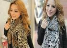 Brown/White Leopard Graffiti Print Fashion Ladies Long Scarf Wrap Neck Summer