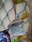 CHRISTMAS TREE DECORATIONS GLITTER SHELL GIFT