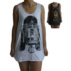 Unisex R2D2 Star wars Vest Tank Top Singlet Dress Sleeveless T-Shirt