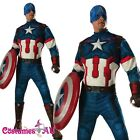 Mens Deluxe Avengers 2 Captain America Costume Adults Hero Superhero Fancy Dress